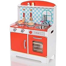 LCP Kids Cocina Madera Infantil Cocina De Juguete Accesorios para Niñas y Niños Juego de Imitación