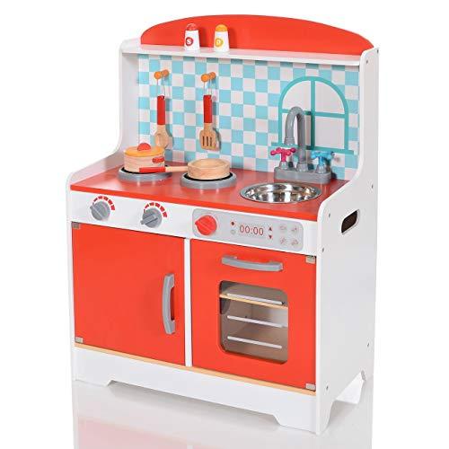 LCP Kids Kinder Spiel-Küche Mira 8 teiliges Komplett Set (85-kuchen-deckel)