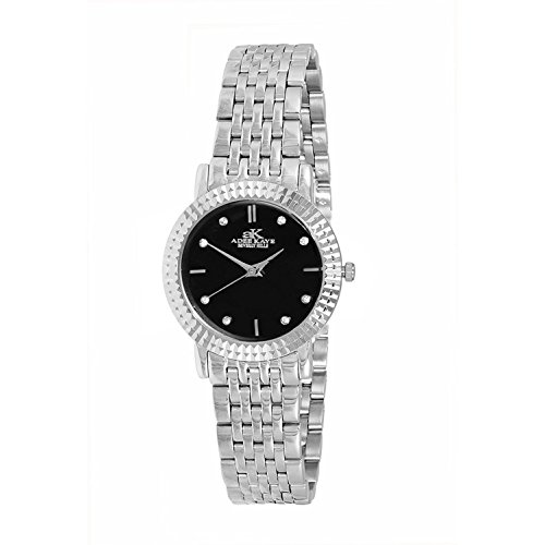 ADEE KAYE WOMEN'S 28MM STEEL BRACELET & CASE SWISS QUARTZ WATCH AK4801-LBK