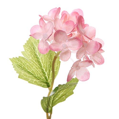 10 Stück künstliche Blume, Hortensie künstliche Künstliche Blume Blumenstrauß Für Hochzeit Party Fest Haus Büro Bar Dekor Dunkel pink -