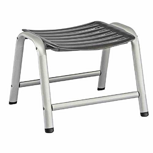 Kettler Hocker Wave – formschöner Sitzhocker für Garten, Terrasse und Balkon – wetterfester Fußhocker für Relaxstuhl und Gartenliege – aus Aluminium und KETTALUX-Kunststoff...