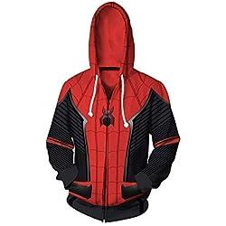 Cosplay Sudadera con Capucha Spider-Man Far from Home (2XL Tamaño)