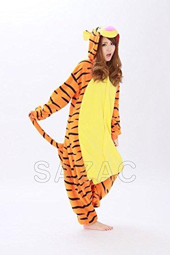 Pyjamas Kigurumi-- Kostüm für Erwachsene (Tigger) (Drei Person Disney Kostüme)