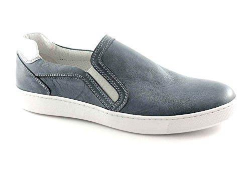 BLACK GARDENS 4112 Jeans Sport Sneaker Herrenschuhe auf rutschen Blu