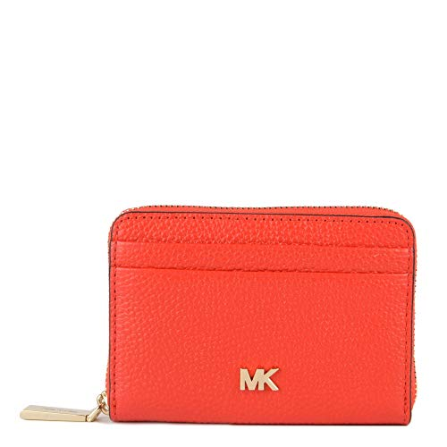 Michael Kors MICHAEL by Money Pieces Sea Coral MK-Kartenhalter, rote Leder-Kartenhalter, Kartenhalter für Frauen Einheitsgroesse Coral -