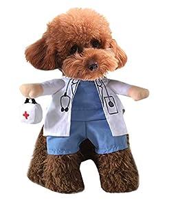 medicina perro: Xiaoyu Cachorro Perro Gato Disfraz de Halloween, Disfraz Estilo médico, médico A...