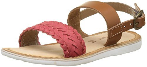 Kickers Sporia, Sandales Bout Ouvert Fille Rouge (Rouge Camel)