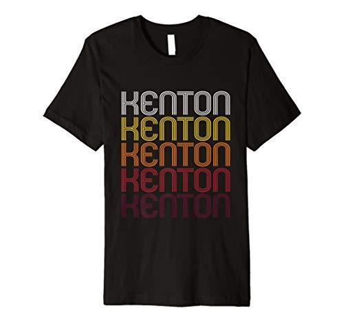 Kenton Retro Wordmark Pattern - Vintage Style T-shirt - Kenton Co