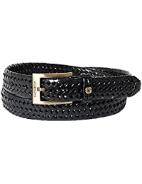 SAMSONITE Men's belt men's belt leather black /90cm
