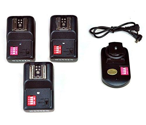 Mondpalast @ 16 Kanäle Wireless Radio Funk Auslöser Blitzauslöser SET mit 3 Receivern für Speedlite Funkauslöser Blitzauslöser canon pentax olympus sigma