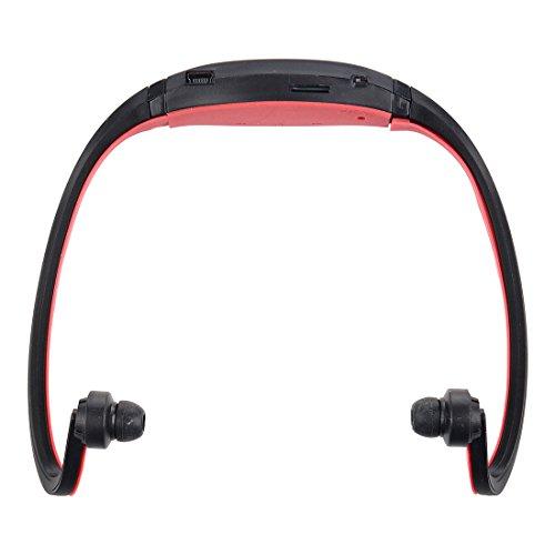 TOOGOO(R) Negro+Rojo Deporte MP3 WMA Reproductor de Musica Ranura para Tarjeta SD TF / Micro Inalambrico Auriculares manos libres