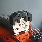 ELECTROPRIME Black Professional Zinc Alloy Violin Mute for Beginner Practice Accs 3/4 4/4