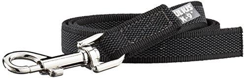 Artikelbild: JULIUS-K9, 216GM-1 Color & Gray gumierte Leine, 20 mm x 1 m ohne Schlaufe, maximal für 50 kg Hunde, schwarz-grau