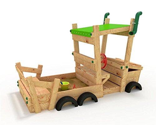 Sandkasten AUTO - LKW - Sandkiste - Spielhaus - Buddelbox - von bibex® - Grün