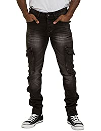Jean Cargo Skinny - noir Poches multiples LEWIS