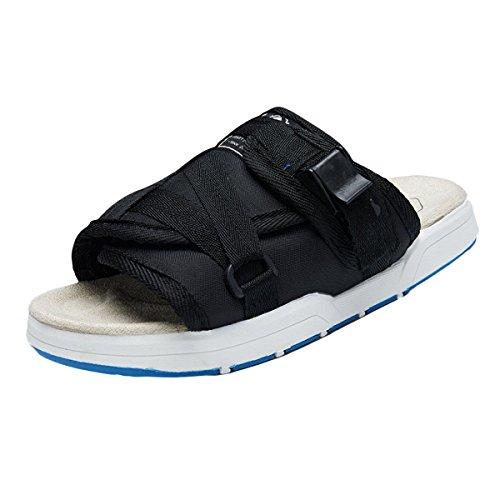 LXXAUnisex Estate Spiaggia Abbigliamento Casual Sandali Slipper Scarpe Da Trekking Black1
