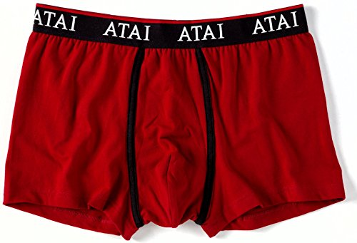 ATAI Herren Retroshort Red, Charcoal Melange, Navy