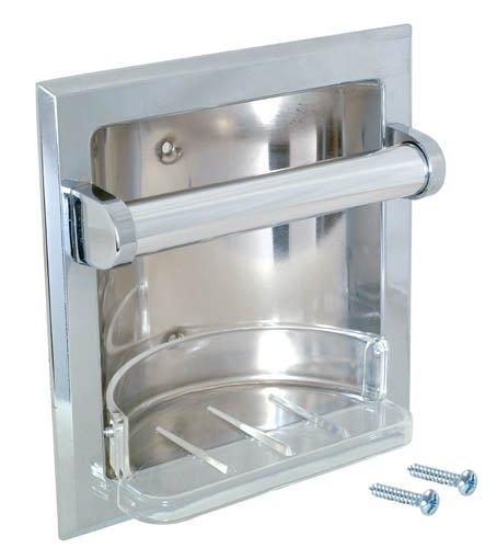 EZ-Flo 15215empotrable jabón y soporte de barra para baño empotrable