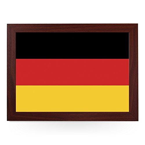 Tragbares Knietablett (Deutsche Flagge) Handgefertigter Holzrahmen, gepolsterter Kissenboden |...