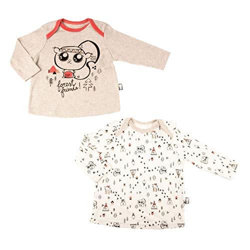 Lot de 2 t-shirts bébé garçon Forest Friend - Taille - 9 mois (74 cm)