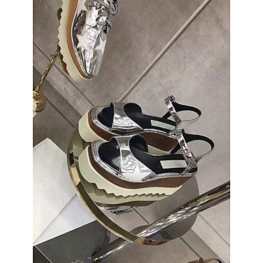 RTRY Donna Sandali Liane Vacchetta Estate Autunno Matrimoni Ufficio Outdoor & Carriera Party & Abito Da Sera Casual Teletta Whit Nero US7.5 / EU38 / UK5.5 / CN38