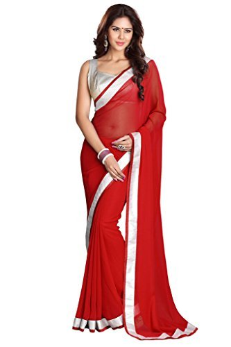 Sourbh Georgette Saree (6960_Red)