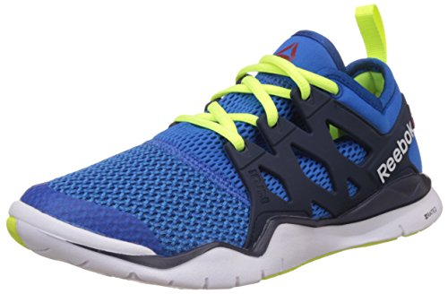 Reebok Boy's Z Cut Tr 3.0 Blue, Dark Blue, White and Solar Yellow Sports Shoes – 5.5 UK 41TT5 2BRowHL