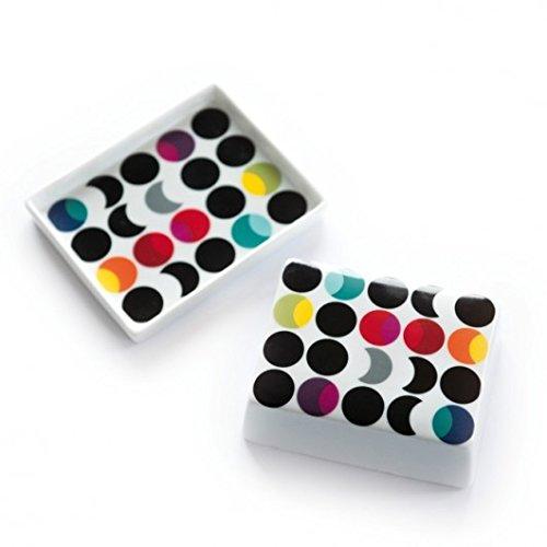 Beurrier Dots multicolore points/LxPxH 13x10x5,5cm