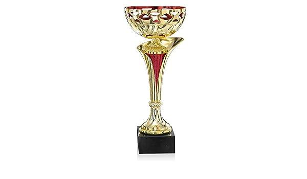 S.B.J Sportland Pokal Silber//pink aus Kunststoff mit Marmorsockel