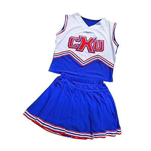 Tenthree Cheerleader Uniform Musical - Mädchen Straße Tanz Kostüme Cheerleading Phantasie Kleid Fußball Sport Im Freien Weich Halloween Kostüm (Fußball-halloween-kostüme Für Mädchen)