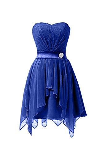 Sunvary 2016Mini Chiffon da Cocktail Homecoming abiti abiti da laurea Royal Blue