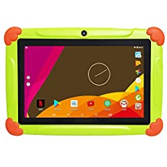Idea Regalo - Tablet per Bambini 7 Pollici Con WiFi 2GB RAM 32GB ROM - Android 6.0 Quad Core - Supporto Youtube Netflix Google Play 1 a 12 Anni Educativo - Verde