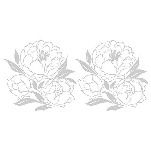 Cuadros Lifestyle Fensterfolie/Sichtschutzfolie mit Motiv - Schöne Blumen   Selbstklebend, Größe:60x25 cm, Farbe:Milchglas Frosted Blickdicht