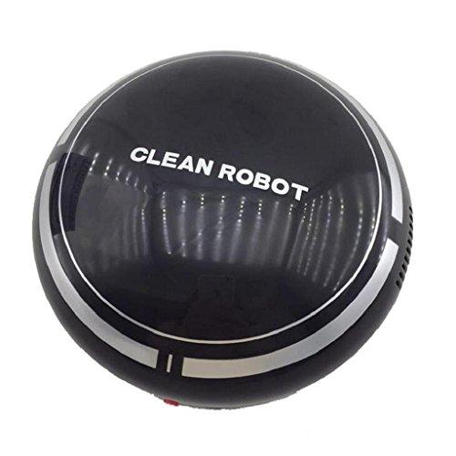 QUICKLYLY Inteligente Robot Aspirador,Robot de Limpieza para Suelos,Automático Carga Mini Barrido Máquina Piso Diseño (Negro)
