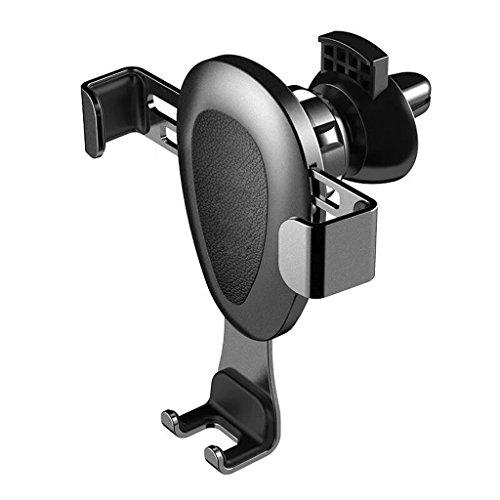 QIHANGCHEPIN Autotelefonhalter iPhone6plus Steckdose Schwerkraftsensor Halterung 360 ° freie Rotation einfache BedienungiPhone 8/X/7/7P/6s/6P/5S Universalhalterung (Farbe : Grau)