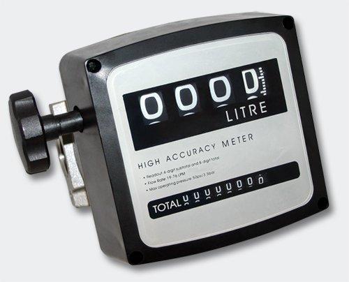 Diesel Heizöl Zähler Doppelzahlwerk 3 bar 19-120l/min Anschlüsse 1