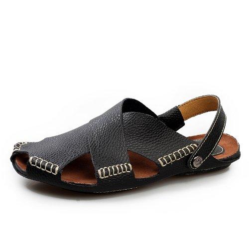 De Doble Transpirable Negro Marea Hombres S Moda De Lin De De Xing Los Cuero Verano De Playa Sandalias La Zapatos De WnPgBxqv