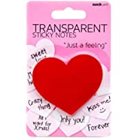SUCK UK SK NOTEHEART1 - Notas adhesivas transparentes de corazón