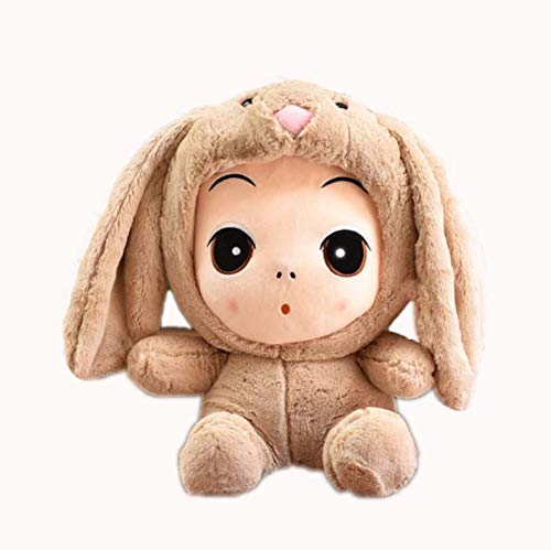 Kostüm Panda Hunde Bär - WYBL Süßes Baby PlüschSpielzeug in Kaninchen Kostüm Halloween Weihnachten Geburtstagsgeschenke für Jungen Mädchen Kinder 23cm braun