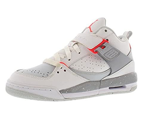 NIKE Air Jordan Flight 45BG Hi Top Chaussures Baskets 644869Sneakers - - white infrared 23 pure platinum wolf grey 123, 39 EU 6,5 ans
