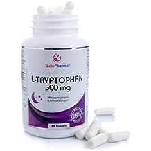 Cápsulas de L-Triptófano para un sueño saludable de ZeinPharma® Productor Alemán (90