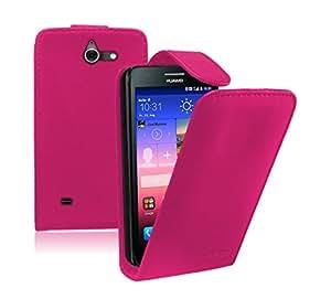 Membrane - Rose Etui Coque Huawei Ascend Y550 (Y550-L01, Y550-L02, Y550-L03) - Flip Case Cover Housse