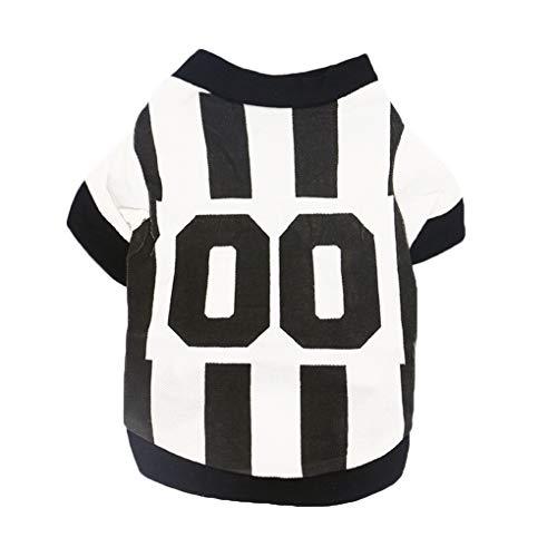 Ruiboury Sport-Art-Buchstabe gedrucktes Haustier-Weste-Sommer-beiläufige Kleintiere Shirts Kleidung