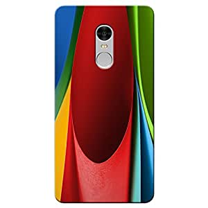 Indiashopers Abstract HD UV Printed Xiaomi Redmi Note 4 Back Cover Case