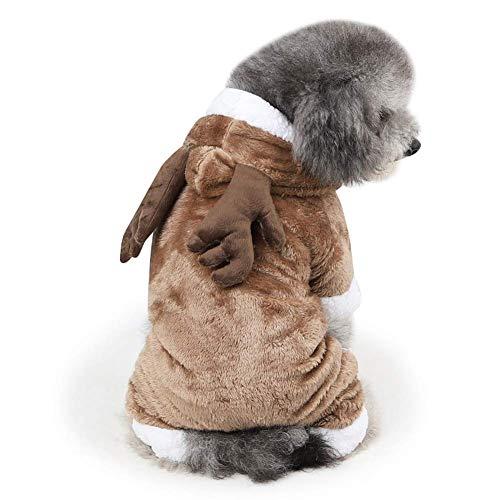 H.JPT Haustier-KleidungPet Clothes Winter Warm Cotton Puppy Coat Small Dog Cool Cowboy Costume (Color : B, Size : M)