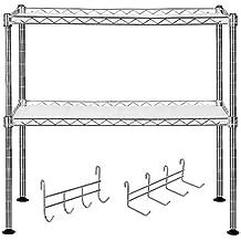 Uberlegen SONGMICS Küchenregal Mikrowellenhalter Super Stahlqualität, Breite 60 Cm,  Belastbar Mit Max. 80 Kg