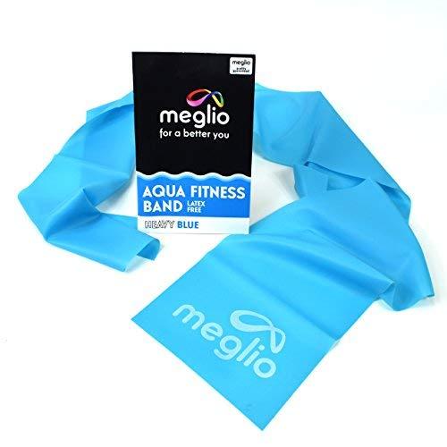 MEGLIO latexfreies Aquafitnessband - Set von 4 x 1,2m Bändern