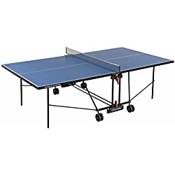 Garlando Mesa Ping Pong Progress Outdoor Con Ruote Per Esterno Azul