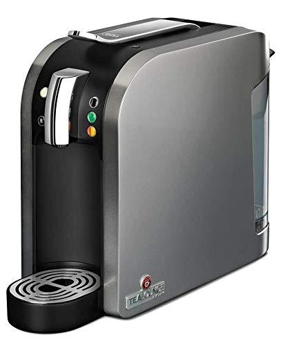 TEEKANNE Tealounge Kaffee - Kapselmaschine, Teemaschine silber, Teebereiter Maschine für Teekapseln und Kaffekapseln Kaffemaschine, Padmaschine, Kaffekapselmaschine, Teekocher inkl. 20 Kapseln