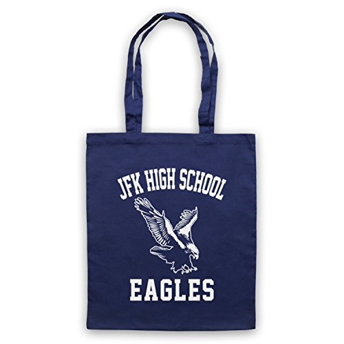 Ispirato Da Seinfeld Jfk High School Eagles Mantello Blu Oltremare Non Ufficiale